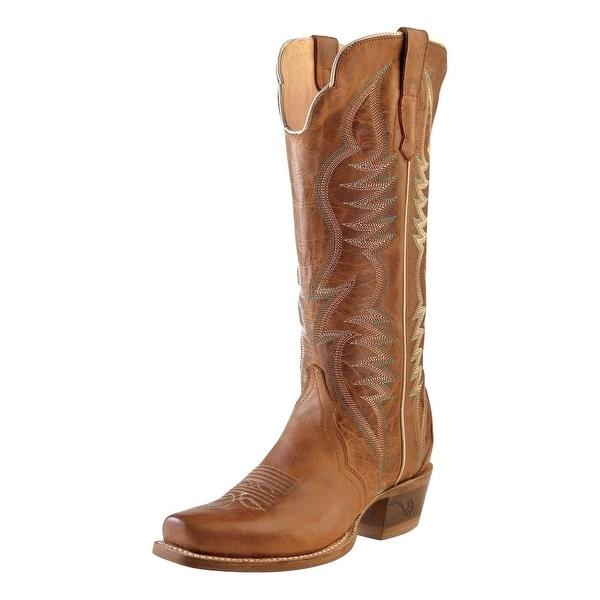 92e7c007e88 Outlaw Western Boots Womens Narrow Square Toe Leather Alamo Meil