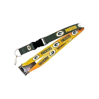 Green Bay Packers Reversible Clip Lanyard Keychain Id Ticket Holder