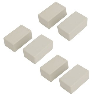 60mmx36mmx25mm Rectangular Dustproof IP65 ABS DIY Junction Box Case Gray 6pcs