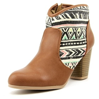 Qupid Sake 36 Women Round Toe Synthetic Bootie