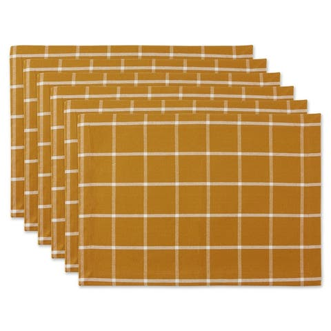 DII Honey Gold Check Placemat (Set of 6)