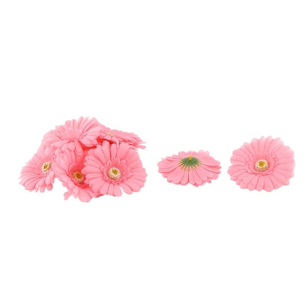 Wedding Party Fabric Handicraft DIY Decoration Table Desk Flower Heads Coral Pink 10 Pcs