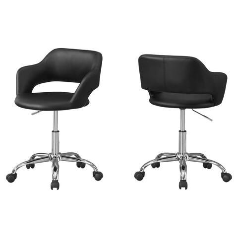 "Offex Mid-Back Swivel Office Chair w/ Metal Hydraulic Lift Base -Black - 22.5""x 21""x 29"""