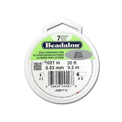 "Beadalon Bead Wire 7Strand .021"" Bright 30'"