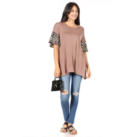 Women's Casual Loose Fit Pattern Tunic Top