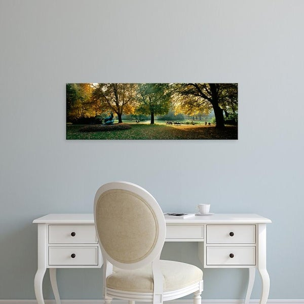 Easy Art Prints Panoramic Images's 'Trees in a formal garden, Le Jardin du Luxembourg, Paris, France' Canvas Art