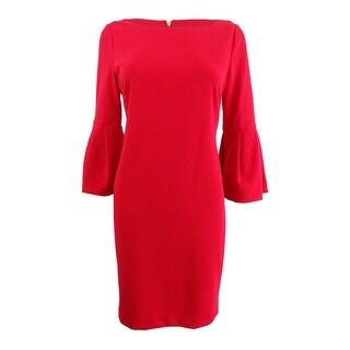 Jessica Howard Women's Petite Bell-Sleeve Sheath Dress - 8P