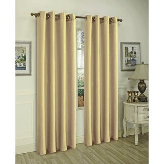 Sabah Faux Silk Panel With 8 Grommets, Beige, 55x95 - N/A