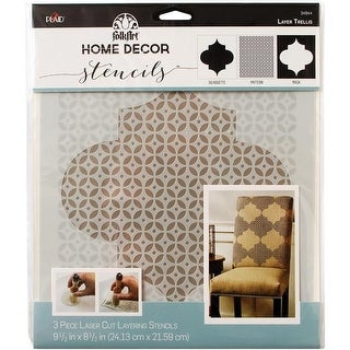 Trellis Folk Art Home Decor Masking Stencils, 9.5 x 8.5 in. -
