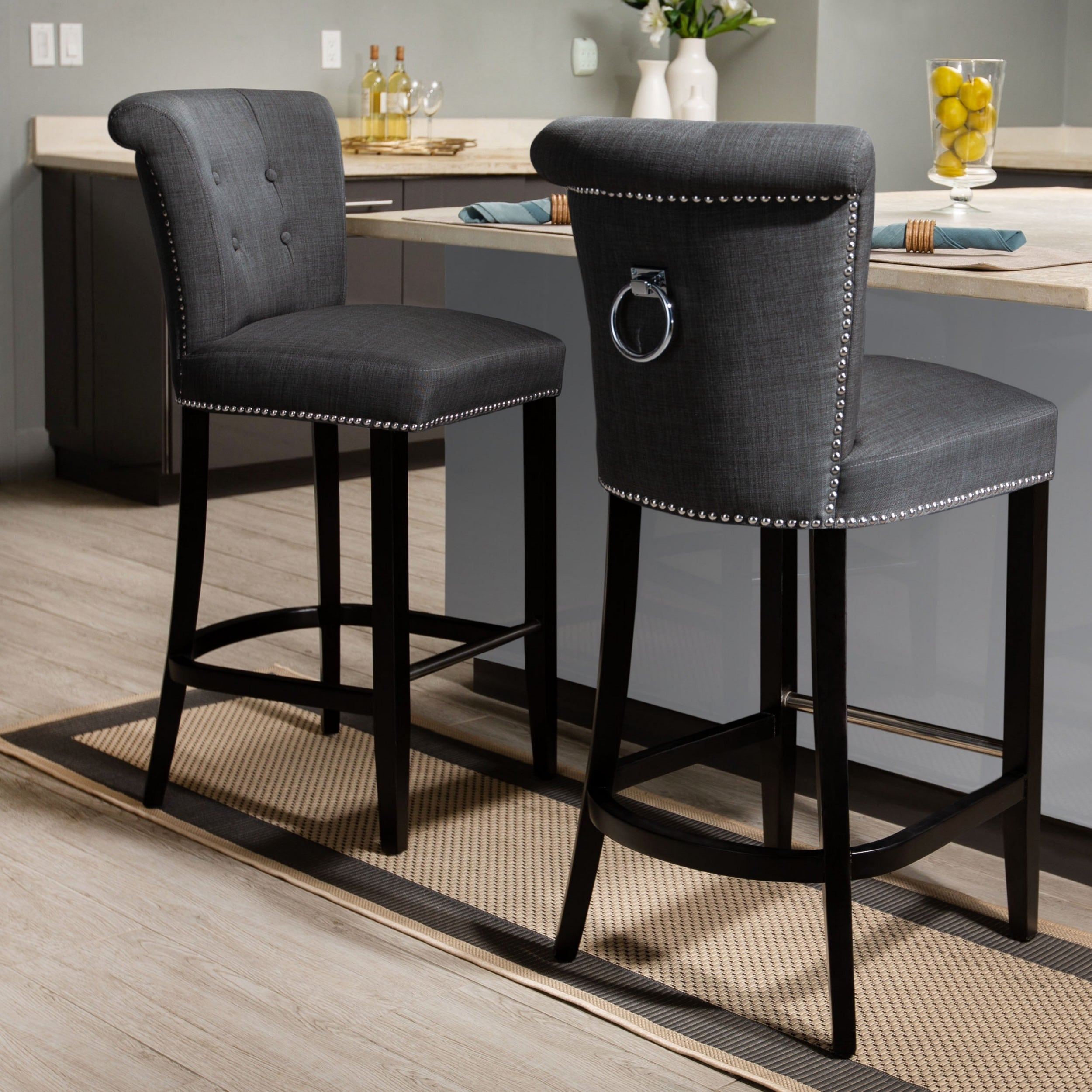 Safavieh Addo Charcoal Ring 30 Inch Bar Stool 19 6 X 24 2 X 43 7 Overstock 9542152