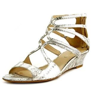 Via Spiga Tamia Women  Open Toe Leather Silver Sandals
