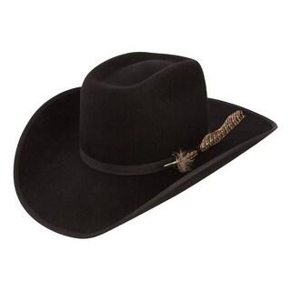 Resistol Cowboy Hat Mens Fur Felt Holt Black