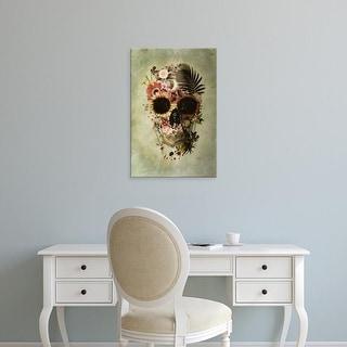 Easy Art Prints Ali Gulec's 'Garden Skull' Premium Canvas Art