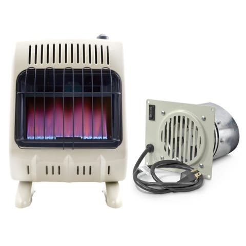 Mr. Heater Corp. Vent-Free Blue Flame Propane Heater and Blower Fan Bundle