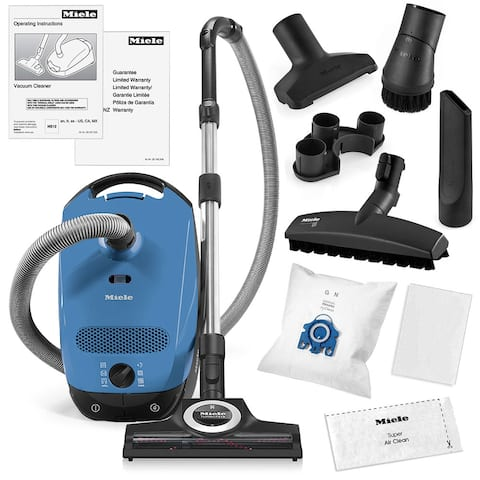 Miele Classic C1 Turbo Team Canister Vacuum Cleaner + STB 305-3 Turbobrush + SBB-3 Parquet Floor Brush + More