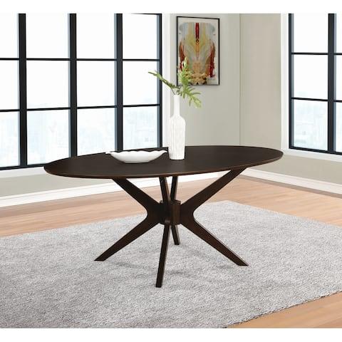 """Carson Carrington Maglaby Medium Brown Oval Dining Table - 44"""" x 30.50"""" x 75"""""""