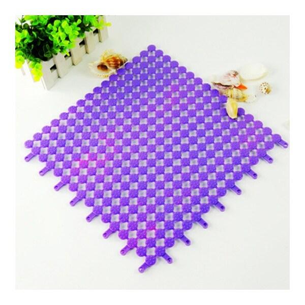 Creative PVC Floor Ground Mat Carpet Cuttable - Purple