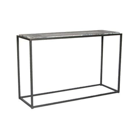 Aurelle Home Willow Marble Contemporary Console Table - 48 x 16 x 30 - 48 x 16 x 30