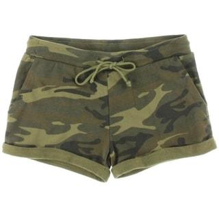 Alternative Apparel Womens Casual Shorts Cuffed Printed - S