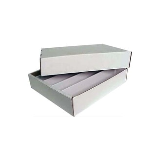 Lot of 5 Max Protection Super Shoe 5000ct 5-Row Cardboard Trading Card Storage Boxes