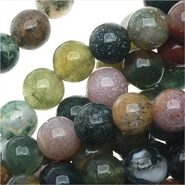 Indian Agate Color Mix Gemstone Beads, 4mm Round, 15 Inch Strand