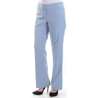 NINE WEST $79 Womens New 1301 Blue Trouser Wear To Work Pants 10 B+B