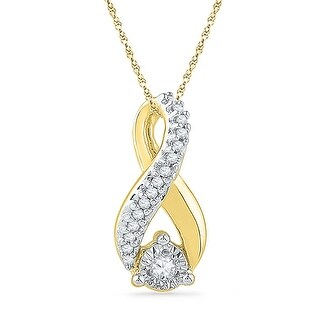 Infinity Pendant 10K White-gold With Diamonds 0.03 Ctw By MidwestJewellery - White