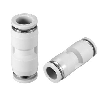 "5pcs Push to Connect Fittings 12mm or 15/32"" Straight od Tube Fittings White - 15/32"" 5pcs"