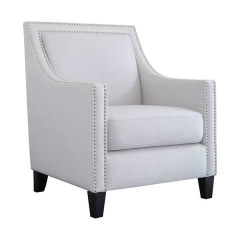 Abbyson Adrienne Nailhead Accent Chair