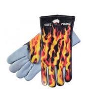 Omega Blkhwk Hn Werner Save PH  Fired Up Welding Gloves - Large