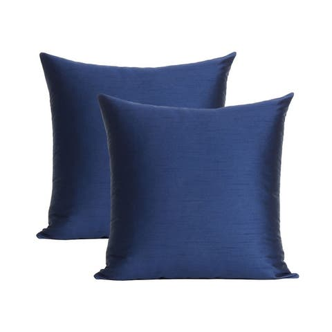 """Oussum Solid Polydupion Pillow Cover Christmas Cushion Cover Set Of 2 - 18""""x18"""""""