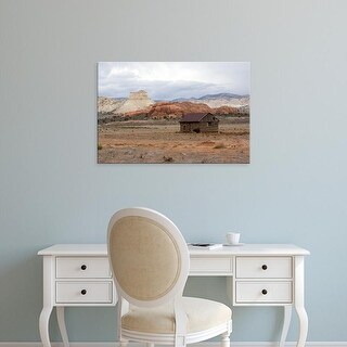 Easy Art Prints Diane Johnson's 'Outbuilding Cottonwood Canyon Road' Premium Canvas Art
