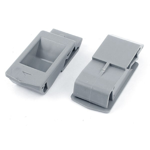 Unique Bargains 2 Pieces Gray Plastic Inside Pull Rectangle Latch For  Cabinets Door