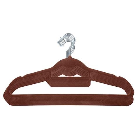 IRIS Non-Slip Clothes Hanger in Brown, Set of 10