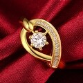 Lucky Horseshoe Gold Ring - Thumbnail 2