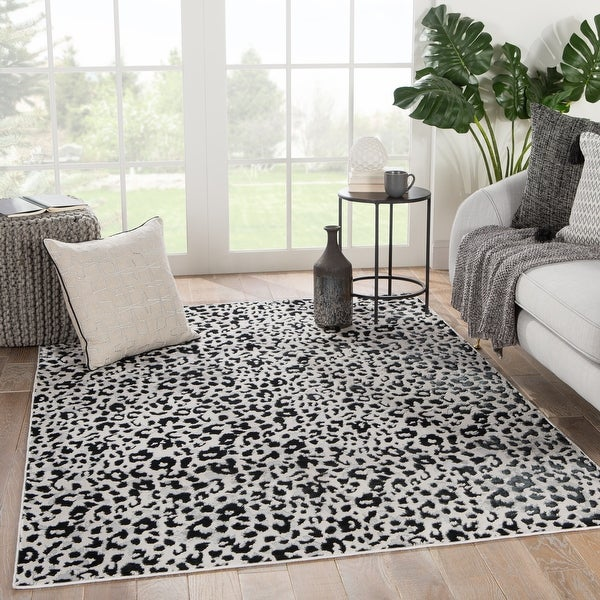 Silver Orchid Bellamy Power Loomed Gray Black Area Rug On Sale Overstock 30244268