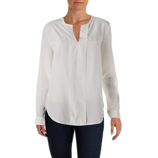 Anne Klein Womens Blouse Silk Long Sleeves