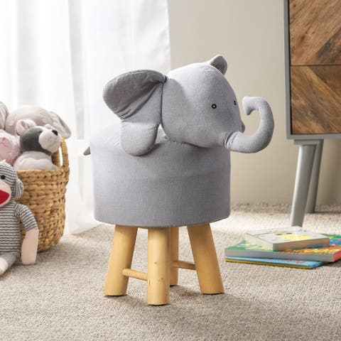 Scipio Contemporary Kids Elephant Ottoman by Christopher Knight Home
