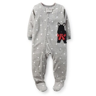 Carter's Baby Girls' Graphic Zip Footie (Baby) - Scottie