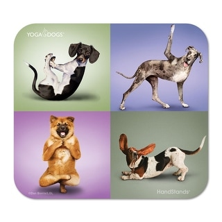 Deluxe Mouse Mat- Yoga Dogs