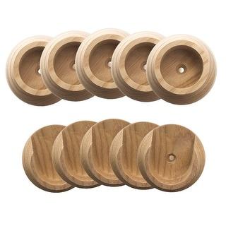 Design House 182758  Wood Closet Pole Sockets - Natural Wood