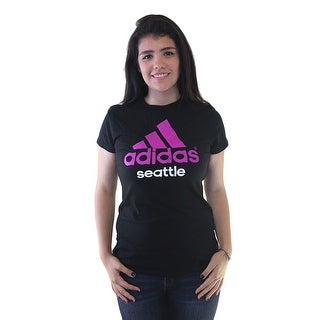 Adidas Seattle Purple Performance Logo Men's Black T-shirt