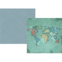 """See The World - Travel Notes Double-Sided Cardstock 12""""X12"""" (25/Pack)"""