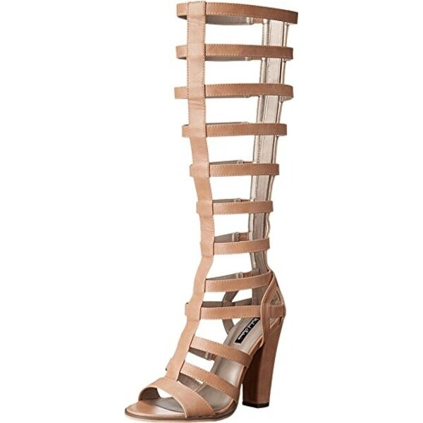 Michael Antonio Womens Krissy Gladiator Sandals Faux Leather Dress