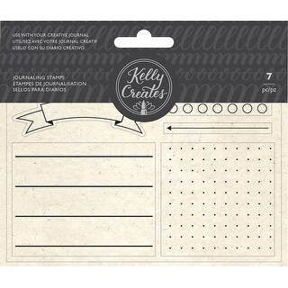 Kelly Creates Acrylic Traceable Stamps-Journaling