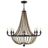 Fredrick Ramond FR42868 8-Light 1 Tier Chandelier from the Hamlet Collection - Vintage Bronze - n/a