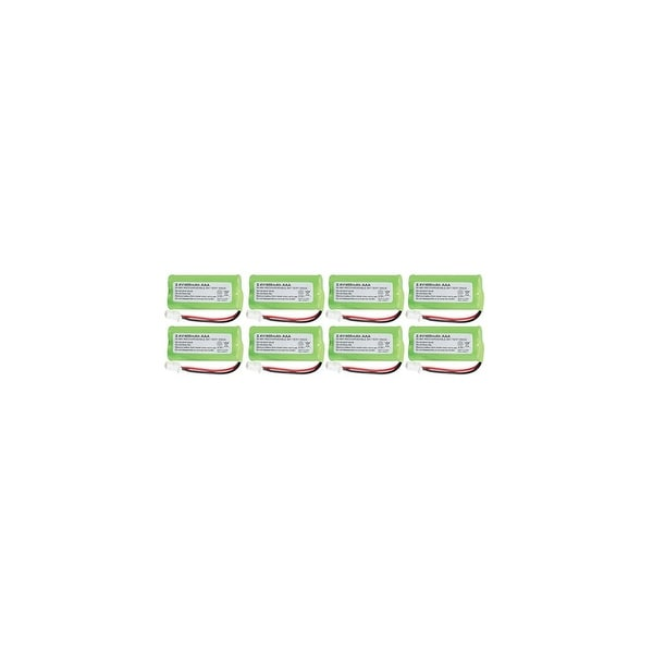 Replacement For VTech BT162342 Cordless Phone Battery (750mAh, 2.4V, NiMH) - 8 Pack