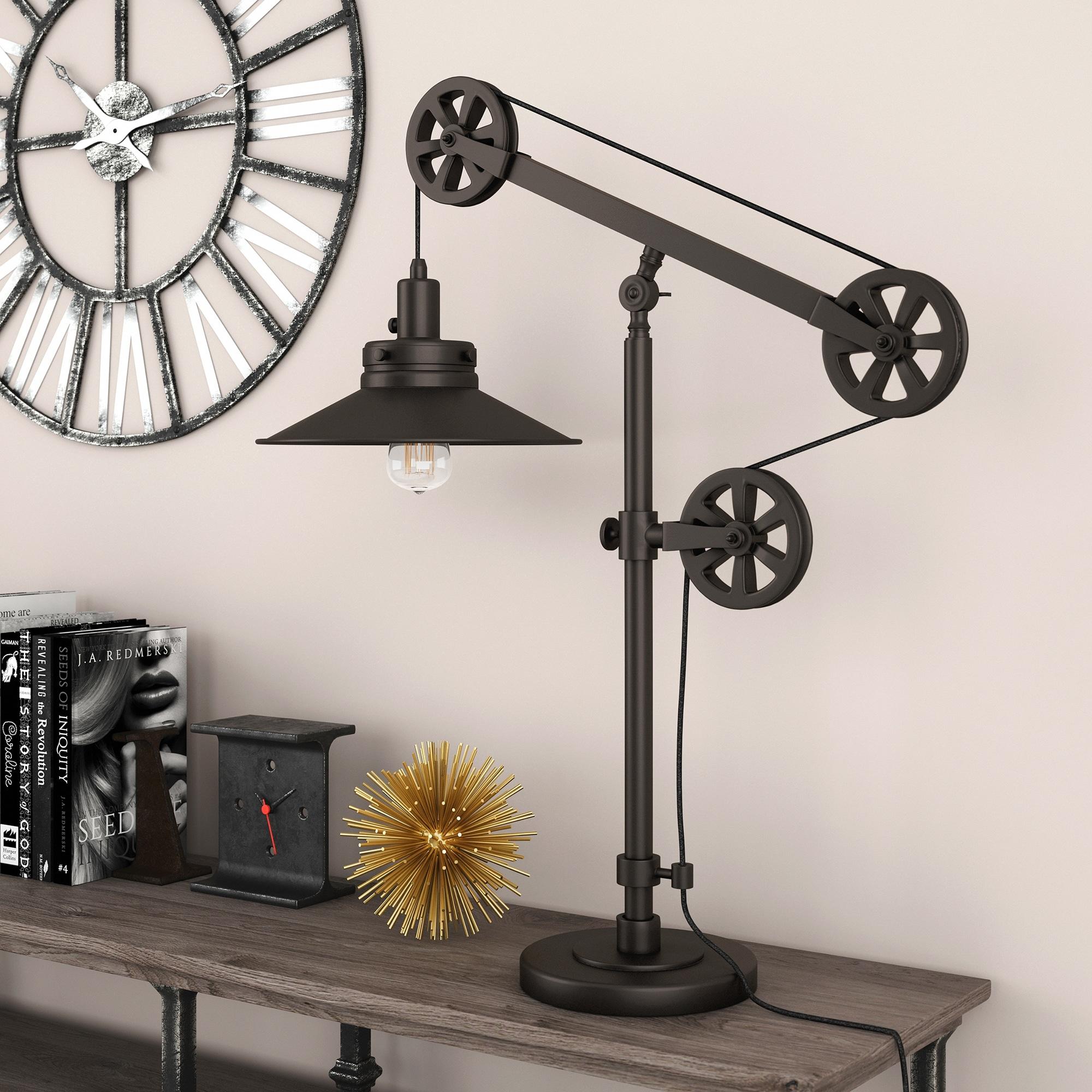 thumbnail 17 - Carbon-Loft-Melville-Wide-Brim-Table-Lamp