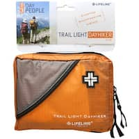Lifeline Trail Light Day Hiker Durable Rip-Stop Bag First Aid Kit - 57 Pieces - Orange - One size