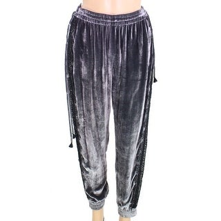 Elie Tahari NEW Gray Womens Size XS Shiny Floral Detail Stretch Pants